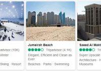 Landmarks and Beaches in Dubai